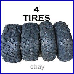 SET OF 4 KENDA K594 ATV TIRES 25-8-12 FRONT 25-10-12 REAR 2 OF EACH like bighorn