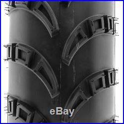 SunF 23x7-10 ATV UTV Tires 23x7x10 AT / MT Tubeless 6 PR A028 Set of 2